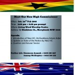 NSW Ghanaian Community Meets New High Commissioner